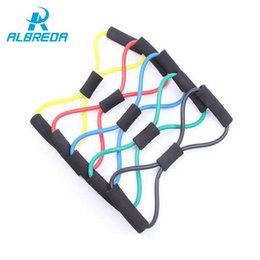 Wholesale Elastic Stretch Loops - ALBREDA New Elastic pilate Exercise Sport Workout fitness Equipment loop Stretch expande Belt Pull Strap Resistance pull rope