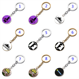 Wholesale necklace pendants dhl - DHL 16 Style Fortnite necklace toy props hot and classic gift Fortnite keychain Cool metal time gem pendant Game Animation Accessories B