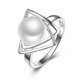 Argentina Sinya 925 anillo de plata esterlina con 9-10 mm de agua dulce natural Joyería Fina marca de boda anillo de Compromiso para las mujeres amante D1892604 cheap sterling silver 9.25 Suministro