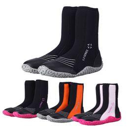 Zapato de invierno frío online-Botas de neopreno de buceo de 5 mm Zapatillas de agua Vulcanización Invierno A prueba de frío Altos superiores cálidos Zapatos de pesca submarina