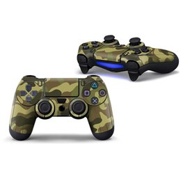 Wholesale Controller Stickers - Colorful Camo Lowest Price Decal for PS4 Controller Skin Stickers Protector 2 PCS Controllers Skin Stickers 1 Pair Controller Sticker