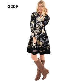 più i vestiti lunghi del manicotto di formato midi Sconti 14 Colori Autunno  Inverno Donna Natale 166ca1e09a9