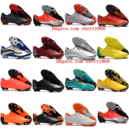 quality design 180d7 d7b06 2018 new arrival mens soccer cleats Mercurial Superfly Vapor XII PRO FG low  ankle soccer shoes leather football boots cheap