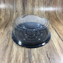 recipientes de queijo Desconto 8 Polegada Circular Caixa De Bolo De Plástico Transparente Embalagem Caixas Recipiente Queijo Claro Grande Bolos Decoração Titular 0 78ty gg