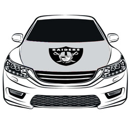 Cubiertas del capó del coche online-El equipo de EE. UU. Flag Car Cover Hood 3.3X5FT 100% poliéster, bandera del motor, telas elásticas se pueden lavar, pancarta del capó del coche