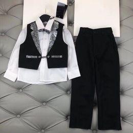 Wholesale Kids Vest Tie - 2018 Promotion baby Boys Vest Clothing Set Children Leisure Clothes Kids Wedding Prom Suits Christmas Costumes For Tie Shirt