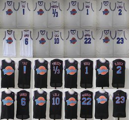 Wholesale Army Film - Film version Tune Squad Stitched Jersey Mens 1 3# Tweety #! Taz #1 Bugs #2 D.duck #6 #10 Lola #22 Murray #23 #30 Basketball Jersey,air dunk!