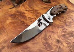 Poliertes taschenmesser online-ElkRidge ER519 polnisch 440C klinge holzgriff taschenmesser Taktische Jagd Tasche Überleben Reparierte Messer geschenk messer 1 stücke cu