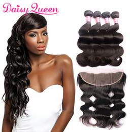 2019 итальянский человеческий волос 22 дюйма 8а бразильский волна тела девственные волосы с кружевом фронтальной необработанные человеческих волос 4 пучки с закрытием норки бразильские волосы ткет