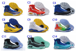 Wholesale Fall Specials - New Hot Stephen Curry 4 Basketball Shoes Professional Basketball Game Special Fashion Trends Personality Design Outdoor Men's Sports Shoes