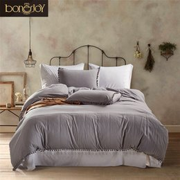 Wholesale Hotel Quilt Cover - Bonenjoy Solid Color Bedding Set Cotton Queen Size Plain Dyed Bed Linen For Home Bedroom Hotel Used Quilt Cover King Size