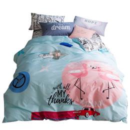 Wholesale White Queen Size Quilt - Svetanya Flamingo Bedlinen 100% Cotton Bedding Sets Twin Full Queen Size Quilt Cover Set Bedclothes