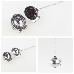 Wholesale fishing metal - Tea Infuser FISH shaped New creativity 304 Stainless Steel Tea Infuser Strainers Filter Tea Ball BBA103