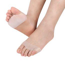 Mulheres Silicone Gel Palmilhas Antepé Almofada de Salto Alto Absorção de choque Anti Escorregadio Pés Dor de Saúde Sapato Palmilha de Fornecedores de calçados de saúde