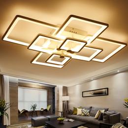 Luminarias de techo industriales online-Luces de techo llevadas modernas de acrílico montadas en la superficie para la luminaria de las lámparas de la lámpara del techo del oscurecimiento del dormitorio del salón
