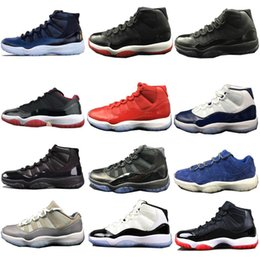 Wholesale baseball cap bowls - 2018 11s Cap and Gown Prom Night Blackout Basketball Shoes Men 11S Basketball Shoes Authentic Real Carbon Fiber Sports Sneakers