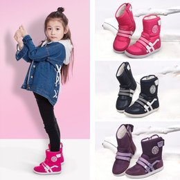 Canada Classic UOVO marque hiver enfants chaussures fille et garçon bottes oxford imperméables en tissu chiffon enfants bottes de neige chaussures en peluche pour 6-14 ans Offre