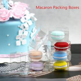 Blister Emballage Snack rouleau boîte à gâteau Macaron boîtes d'emballage Macaron boîte en plastique en gros boîtes transparentes 50 pcs ? partir de fabricateur