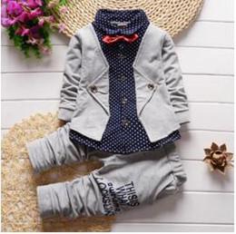 2019 cappotto sportivo dei ragazzi 12 Primavera Autunno Baby Boys Abbigliamento Set Casual Bambini Sport suit Infant Toddler Ragazzi vestiti Top Coat + Pants Set Tuta sconti cappotto sportivo dei ragazzi 12
