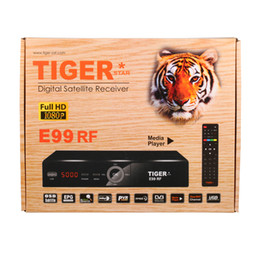 Wholesale Hd Tv Digital Satellite Receiver - High Quality Best Selling Tiger HD TV Digital Satellite Receiver Model E99 RF support 3G and FTA
