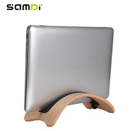 Canada Support en bois pour ordinateur portable SAMDI pour Mac Air / Pro Natural Support en bois pour ordinateur de bureau vertical simple Support en bois pour ordinateur portable Offre