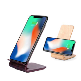 Wholesale galaxy note wood - Wood Fast 2-Coil Qi Wireless Charger for iPhone X 8 Samsung Galaxy S8 S7 Note 8 Universal Wireless Charging Holder Stand Retail Package