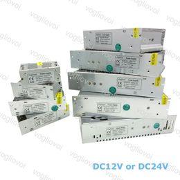 Led Transformer DC12V DC24V 80W 100W 120W 150W 200W 250W 360W 400W For Led Strips Lights Modules AC100V AC240V DHL