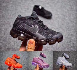 Wholesale Infant Kids Shoes - vapor 2018 Infant & Children Kids running shoes Mesh outdoor Sports shoes toddler athletic trainer boy & girl sneaker size 27-35