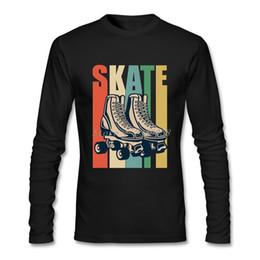 Wholesale Cool Vintage Shirts - Vintage T-Shirt Homme Roller Derby Cool Skating Cheap Price Casual Short Sleeve t-shirt Men Camisetas