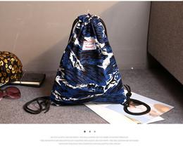 Wholesale Fashionable Backpacks - 2018 Fashionable street leaf drawstring double shoulder bag waterproof nylon bundle pocket simple sundry bag.