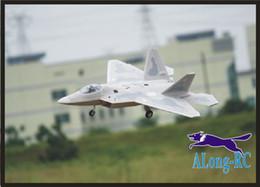 Rc combattenti aerei online-FREEWING F22 F-22 Raptor stealth fighter EPO aereo / aereo / RC MODELLO HOBBY TOY / 64mm EDF 4 canali piano (avere KIT o PNP)