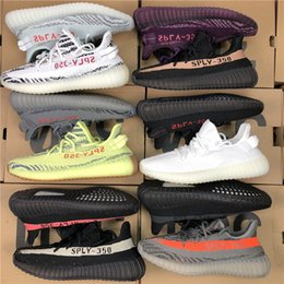 Wholesale black red table - 2018 Best Quality 350 v2 Kanye West Semi Frozen Yellow Zebra Beluga 2.0 Blue Tint Kanye Shoes Sply 350 Sneakers Sports With Box