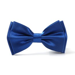 Wholesale Dress 23 - High Quality Men Women Unisex Classic 23 Solid colors Tuxedo Dress Bow tie wedding party Pre-tied tie Butterfly tie Cravata