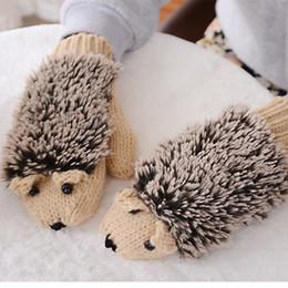 Luvas para luvas para mulheres on-line-2017 novas luvas de inverno luvas de mulheres luvas de ouriço mitten inverno fingerless das mulheres quentes aquecidas luvas de ouriço de malha