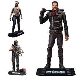 2019 figura caminhada The Walking Dead PVC Brinquedos Negan Rick Grimes Daryl Dixon PVC Action Figure Collectible Modelo Toy 7
