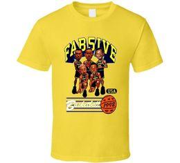 Deutschland Fab Five Michigan Basketball Karikatur T-Shirt - Gelb Cool Casual Stolze T-Shirt Männer Unisex New Fashion T-Shirt Lose supplier yellow tshirt fashion Versorgung