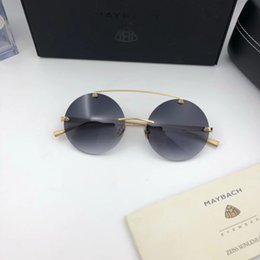 Wholesale Woman Ch - Luxury Car Brand Maybach CH-GR-Z12 Sunglasses 18K Gold Plated Sunglasses Pilot Frame Spring Temples Men Brand Designer Come With Package