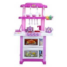 Kinder kochen spielset spielzeug online-Kinder zwei seiten elektronische küche kochen rolle pretend play spielzeug mit licht und sound-effekt ---- perfektes geschenk für kinder