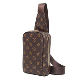 7a79ef7edef9 Wholesale brand men bag classic printed men chest bag waterproof  wear-resistant outdoor casual slung shoulder bag contrast leather fashion s