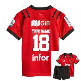 kinder jersey größen Rabatt 2018 CRUSADERS Super Rugby-Kinder JERSEY New Zealand Super Rugby Union Crusaders Hochtemperatur-Jersey-Shirts der Größe 18-20-22-24-26-28