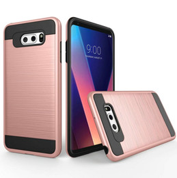 Wholesale g3 hard case - For LG G3 G4 G5 G6 K7 K10 K8 K3 2017 LV3 LV5 Case Brushed Armor Rugged Silicone Hard Plastic Phone Back Cover