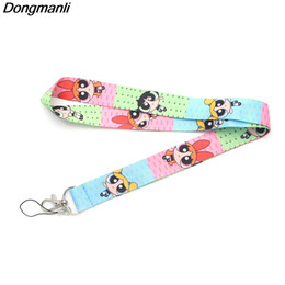Wholesale fashion id necklaces - Dongmanli The Girls keychain women fashion lanyards cartoon necklace lanyard Badge ID Cards phone Holders chain M1905