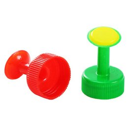 Wholesale garden plant sprayer - Mixed Color 4PCS Gardening Plants Waterer Accessories for Bottle Home Mini Sprinkler Sprayer for Plant(red blue green mixed)