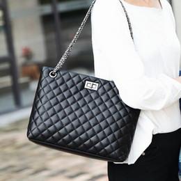 saco de couro do estilo europeu do mensageiro Desconto Best selling senhoras moda bolsa de ombro rhombic couro cor sólida tecido macio estilo europeu e americano cadeia saco do mensageiro