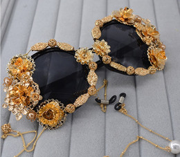 Wholesale Resin Bows - 2018 New Baroque bow tie sunglasses wholesale outdoor beach accessories