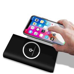 banco de poder emoji Rebajas 10000mah Power Bank Batería externa carga rápida Cargador inalámbrico Powerbank Cargador de teléfono móvil portátil para iPhone 8 8plus X Samsung