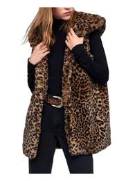 Argentina Mujeres-s Faux Fur Con capucha Chaleco-s Leopardo Chaleco largo Otoño Animal Impreso Delgado Colete Niñas Invierno Cálido Vintage Chaquetas Marrones cheap winter leopard vest girls Suministro