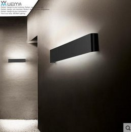 Wholesale Contemporary Wall Decorations - Modern 14W 41cm Long Aluminum LED Sconce Indoor Wall Lamps in bedroom as Decoration Lighting Fixtures 100-240V p722