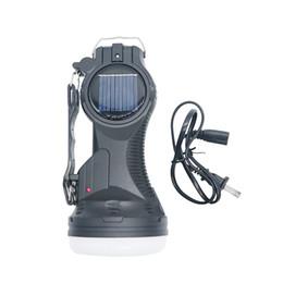 Torcia elettrica 1w online-Nuovo Hanging vibrazione di 2018 110-250V solare torcia elettrica ricaricabile da 1000mAh Protable una lampada lanterna solare di emergenza Lampada da tavolo Luce di campeggio