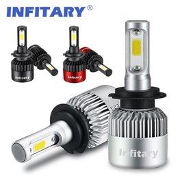 Wholesale Led H8 - 2 Pieces H7 LED Car Headlights H4 LED H1 H3 H8 H10 H11 H13 9004 9005 9006 9007 72W 8000LM 6000K 12V 24V Auto Headlamp Light Bulb